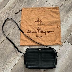 Salvatore Ferragamo Italy Black Leather Purse